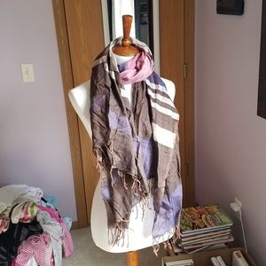 Brown & Purple Scarf